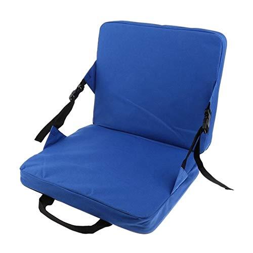 Generic Brands Nappe de Pique-Nique Extérieur Chaise Pliante de pêche SeatCushions et arrière Pad for Voiture Seat Stadium Seat Rembourrage Rocking Chair (Couleur : Blue)