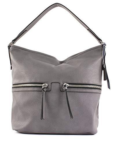 ESPRIT Damen Handtasche Tasche Henkeltasche Ivy Hobo Grau 098EA1O003-030