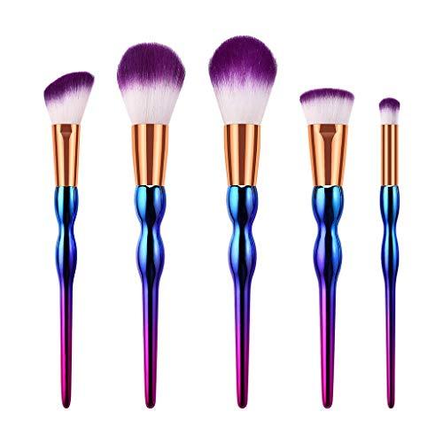 5/7/10 Pcs Gourd Pinceau De Maquillage Pinceau Multifonctionnel Mode Conception Blanc Et Violet Coloré Make Up Brosses pour Fondation Sourcils Eyeliner Blush Cosmétique Concealer