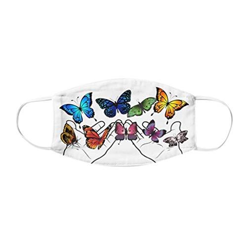 PPangUDing Mundschutz Waschbar Wiederverwendbar mit Lustiger Motiv Sommer Atmungsaktive Staubdicht Bandana Halstuch Multifunktionstuch Schlauchtuch für Damen und Herre