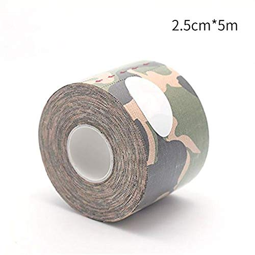Kinesiologie-Tapes Sportliche Band Sport Erholung Band Strapping Gym Fitness Tennis Running Knee Muskel-Schutz Scissor isolierband (Color : Green Camouflage)