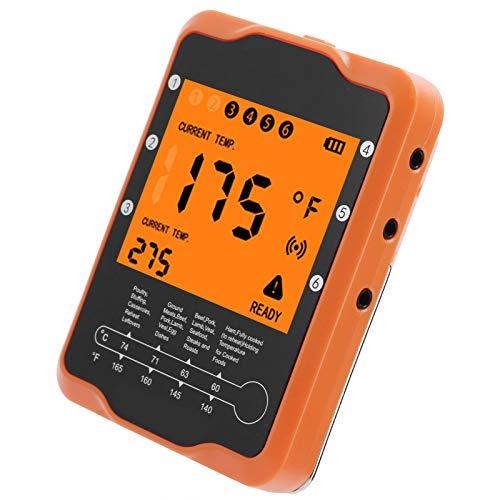 Termometro remoto Wireless, 6,3x1,2x0,7 Pollici Forniture per la Cottura Impostazione del Risparmio energetico Termometro per Alimenti per la Cottura al Barbecue per Il Ristorante Domestico