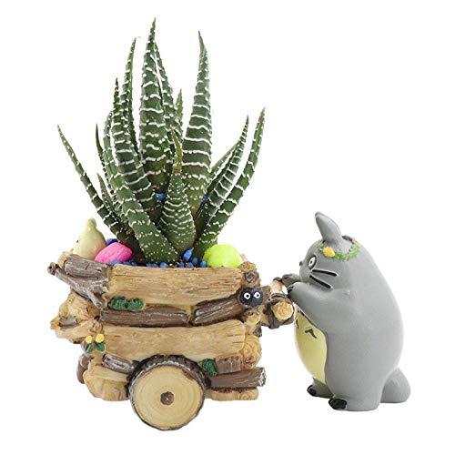 SPLLEADER Suculento de la Historieta Moderna Planter Recipiente de Resina de Creación Artesanal Linda Totoro Tiesto Decoraciones caseras del florero Flor de la Planta
