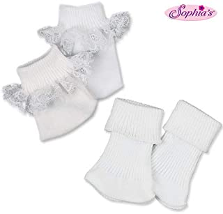 Sophia's Doll Ankle Sock Set, Fits 18 Inch American Girl Dolls, Two Pair Sock Set