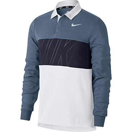 NIKE M Nk SB Dry Top Polo, Hombre, Thunderstorm/Obsidian/White/White, L