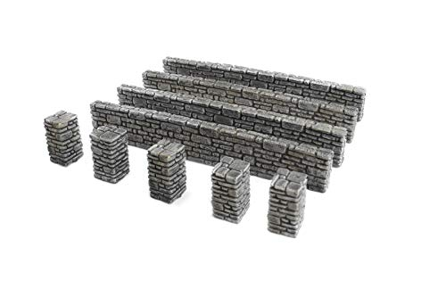 WWG Pack de pared de piedra y pilares de la 2ª Guerra Mundial, WWII, 28 mm
