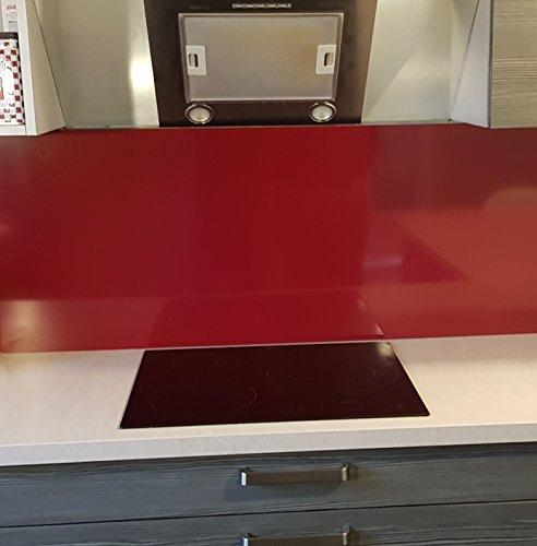 Dunstabzugshauben/Spritzschutz aus Aluminium, Rot, Violett, 11 Größen – H 20 cm x Länge 60 cm