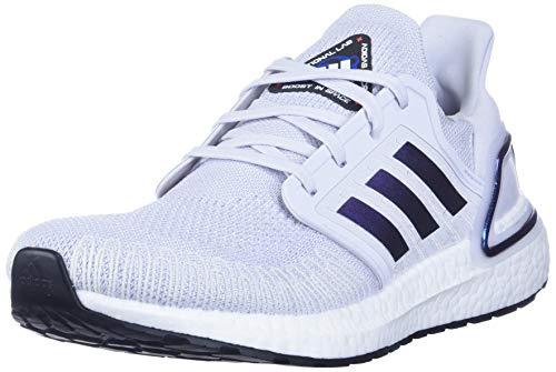 Adidas Women's Ultraboost 20 W Athletic Shoe, Grey/Blue Violet Metallic/Core Black, 8.5 M US