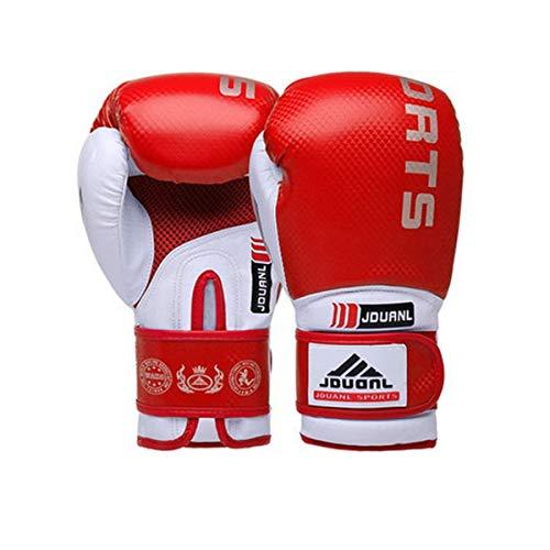 NO LOGO FDCW Boxhandschuhe, Adult Professional Sanda Sandsack Trainingshandschuhe, Boxsets for Männer und Frauen, Blau (Krawatte senden) (Farbe : Rot, Größe : 1oz)