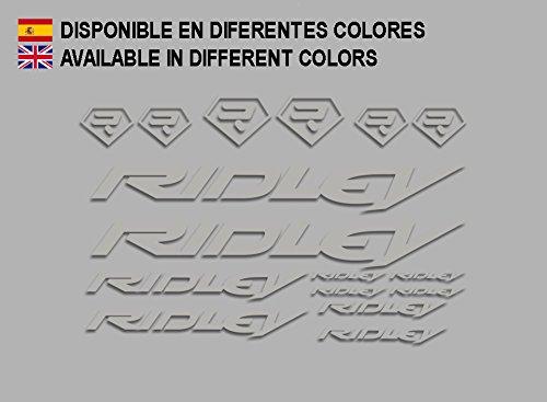 Ecoshirt BQ-I5R3-BW7I Aufkleber Ridley Bike F133 Stickers Aufkleber Decals Autocollants Adesivi, Silber