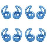 MoKo Almohadillas Auriculares Compatible con Apple AirPods/EarPods [4 PZS], Respuesto de Eartips de Silicona Suave Anti-Slip Gancho de Gel Auriculares Protectivos Accessorios - Azul
