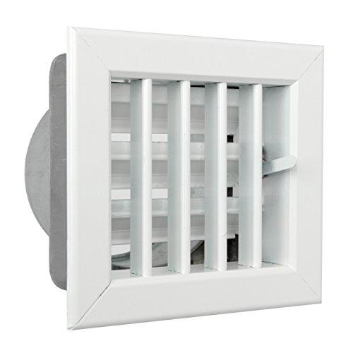 Ventilatierooster voor inbouw van open haarden 140 x 130 mm Alluminio Verniciato Bianco