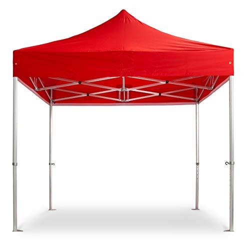 EYE EFFECT schönes Faltzelt 3x3m - Faltpavillon - Alu Pavillon Partyzelt (Rot)