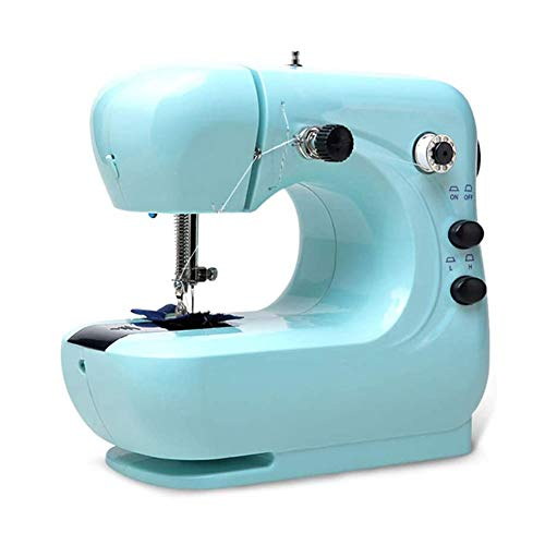 XYUN Mini Naaimachine voor Dikke en Meerdere Lagen Stoffen, 2 Snelheid Borduurwerk Naaien Zware Duty Quilting Machine Gemakkelijk te gebruiken met Extension Table