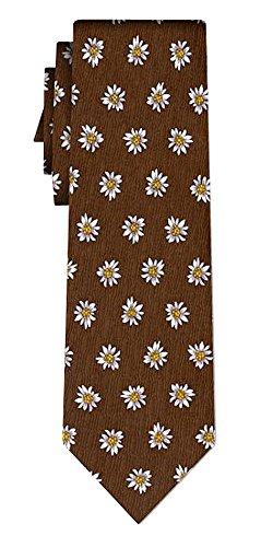 Cravate soie edelweiss II brown