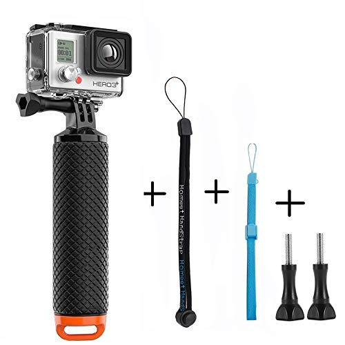 Homeet Schwimmer Handgriff Schwimmender Hand Grip Unterwasser Handstick Monopod Pole Selfie Stick Ergonomisch für GoPro Hero 5/4/3+/3/SESSION/ SJCAM Garmin Virb Yi 4K DBPOWER QUMOX Akaso,Orange