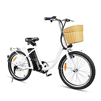 Nakto Cruiser Electric Bicycle for Female 250W Light Adult Electric Bike, with 36V/10A Removable Waterproof Lithium Battery E-Bike