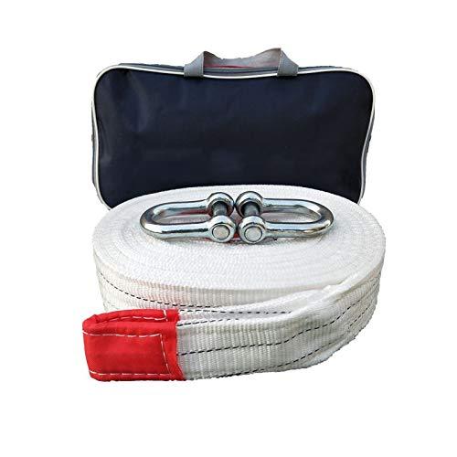 ZXC Abschleppgurt 5 m Hochleistungs-Abschleppgurt 4x4 Maximale Zugkraft 5t 10t 15t Abschleppseil Mit 2 Sicherheitshaken für Auto SUV Landwirtschaftliches Fahrzeug Yacht(Size:5m 10T)