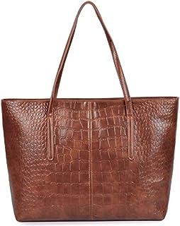 TOOGOO Crocodile Handbag Women Retro Leisure Large Shoulder Bag Female Causal Totes for Daily Shopping Big Bag Sac Black