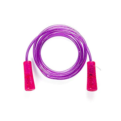 Hui Jin Springseil mit LED-Beleuchtung, für Kinder, Outdoor-Übung, Springseil, buntes Fitness-Spielzeug, leuchtendes blinkendes Geschenk für Kinder, rosa