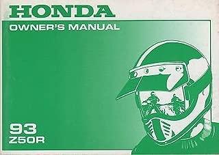 1993 HONDA MOTORCYCLE Z50R OWNERS MANUAL (855)