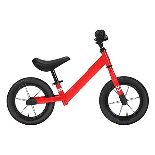 XTZJ Bicicleta de equilibrio para niños durante 18 meses 2, 3 4 y 5 años de edad, niños y niñas, 12 'Bicicleta de entrenamiento para niños pequeños para bebé, ligero y ajustable Sin pedal de bicicleta