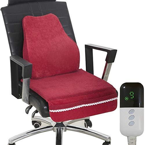 Fllyingu - Cojín de calor eléctrico, espuma viscoelástica, para sillas, terapia, para...