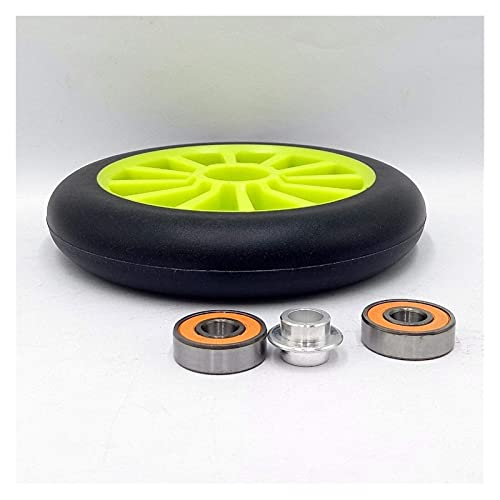 DLILI Neumáticos de Scooter 6 Piezas 125 mm Rueda de Scooter de Acrobacias Resistente al Desgaste Alta Elasticidad PU Velocidad en línea Rueda de Patinaje sobre Ruedas con rodamiento 431