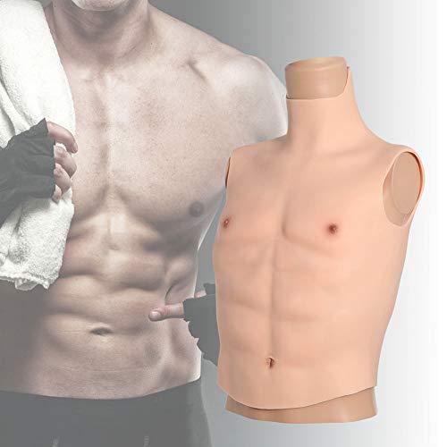 ZRB Silikon-Halber Bodysuit-Silikon-Muskelanzug Gefälschte Muskeln False Künstliche ABS Aufbauen Büste Muskeln Cosplay-Kostüme