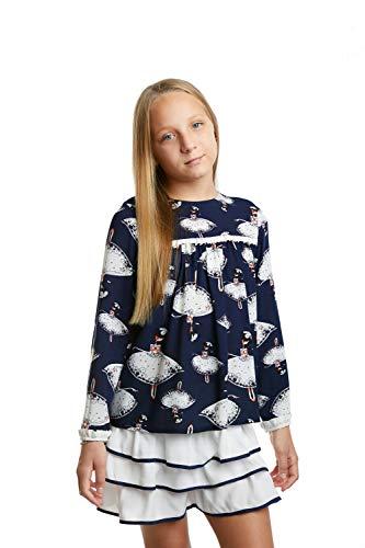 Arte Mio meisjesset blouse + rok met ruches van viscose