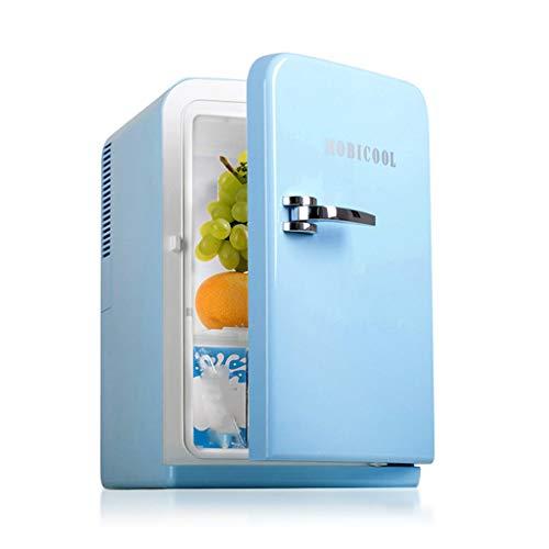 Refrigerador y Calentador eléctrico de Mini refrigerador (15L   22 latas) -para el Cuidado de la Piel, Leche, Alimentos, refrigeradores de Dormitorio y de Viaje (Azul)