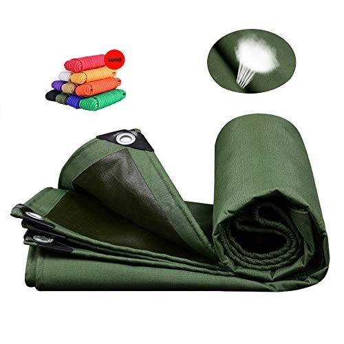 Lonas HUAHUALona Impermeable para Exteriores, Gruesa Y Resistente Al Desgaste 100% Protector Solar Red De Sombra Antienvejecimiento Transpirable, Verde Militar, 10 Tamaños(Size:Los 4x6m)