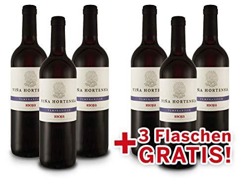 Viña Hortensia Rioja Preferido Tempranillo Vorteilspaket- Spanien (6x 0,75l) Rotwein trocken