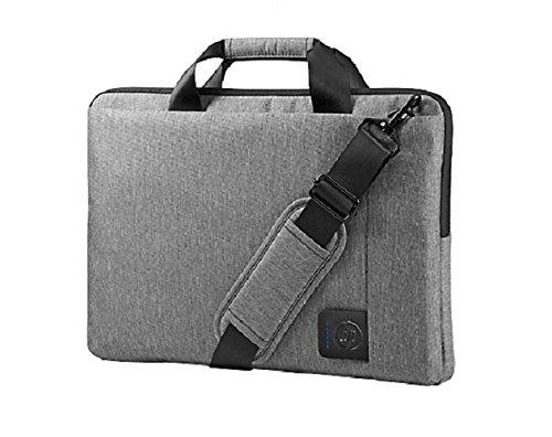 HP Slim Top Load (G8Y15AA) Laptop Umhängetasche mit Reißverschluss/Klettverschluss (für Notebooks, Laptops) 39,6 cm (15,6 Zoll) grau