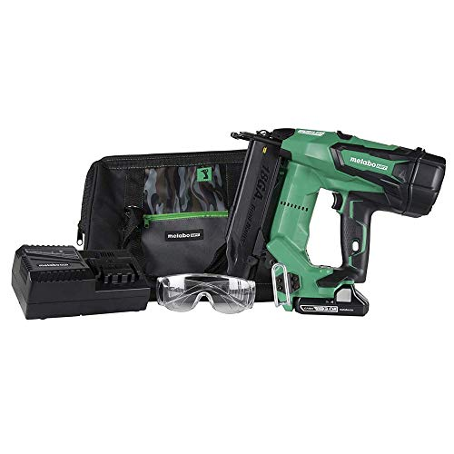 Metabo HPT Cordless Brad Nailer Kit | Unique Air Spring Drive System | 18V Brushless Motor | 18 Gauge | 5/8' to 2' Brad Nails | Compact 3.0 Ah Lithium Ion Battery | Lifetime Tool Warranty (NT1850DE)