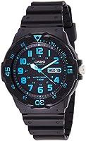 ساعة يد كوارتز للرجال من كاسيو، مزودة بشاشة عرض انالوج مع سوار راتنج، MRW-200H-2BVDF