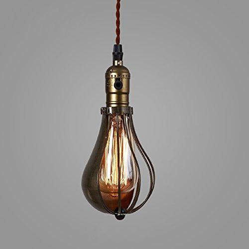 Chuangjie industriële hanger, lamp, creatief, retro, vintage, bar, loft, eetkamer, café, allee, trap, 1 lamp, nachtkastje, om op te hangen, ijzer, metaal