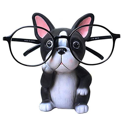 HEYB Soporte para gafas de sol con soporte para cachorro, diseño de animales (Bulldog)