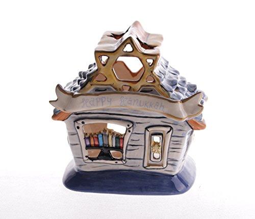 Blue Sky Ceramic 5.5' x 4' x 5.5' Hanukkah Candle House