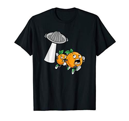 Laufende Orangen Saftpresse Außerirdische Orangensaft Frucht T-Shirt