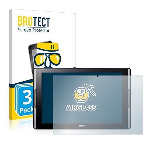 BROTECT Panzerglas Schutzfolie kompatibel mit Acer Iconia Tab 10 A3-A50 (3 Stück) - 9H Extrem Kratzfest, Anti-Fingerprint, Ultra-Transparent
