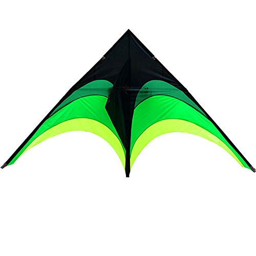 Single Line Kite Huge Rainbow Kite for Children and Adults Great Outdoor Toy for Beginners Makes a Great Gift for children from 3 years old (Color : Green, Size : One size)
