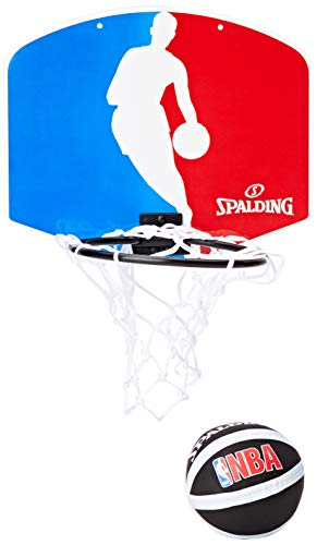 Spalding Backboard Miniboard NBA Logoman 77602Z, Mehrfarbig (Blue/White/Red)