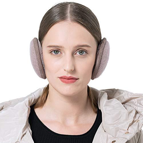 Surblue折り畳み式耳あてイヤーマフヘッドバンド式イヤーウォーマーバックアームニット防寒対策ユニセックスブラウン