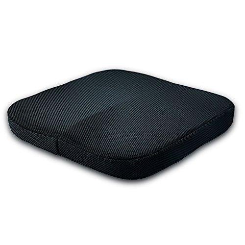 NYKKOLA Coccyx Memory Foam zitkussen met anti-slip bodem en wasbare hoes voor rugsteun ideaal cadeau voor thuis bureaustoel auto