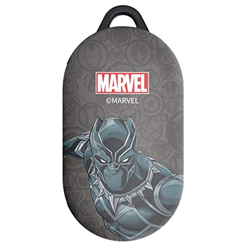 Hero Character Case Cover with Avengers Character for Samsung Galaxy Buds/Buds+ Plus (Black Panther)