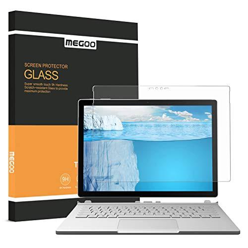 MEGOO Surface Book 2 Schutzfolie gehärtetes Glas, Einfache Installation/ 9H Festigkeit/Klar Anti-Kratz Panzerfolie Bildschirmfolie für Microsoft Surface Book 2 13,5 Zoll, Kompatibel mit Surface Pen & Hülle