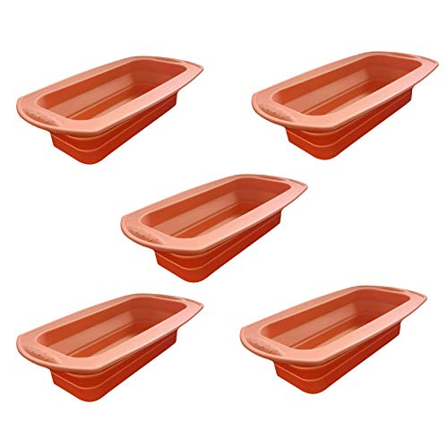 Silicone Bread and Loaf Pan – Non-Stick Silicone Baking Mold Mould for Homemade Cake, Bread, Meatloaf and Quiche for Kids Adults, Lovers, Birthday, Moteher's Day (5)