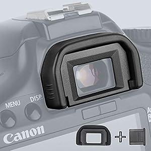 Ruberg Goma ocular para Canon EF Eyecup ocular visor ocular copa ocular visor ocular protector EOS 1300D 1200D 1100D 1100D 760D 750D 700D 650D 600D 550D 500D 450D 450D 400D 350D