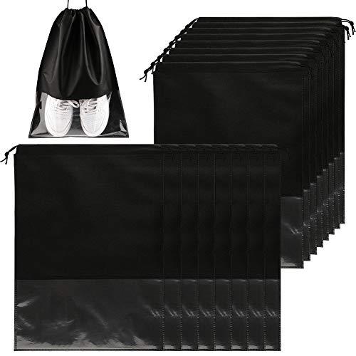 16 Stück Reise-Schuhbeutel, tragbar, groß, Schuh-Organizer, Aufbewahrungstasche, wasserdicht, staubdicht, Schuhaufbewahrung, Taschen mit transparenten Fenstern für Damen und Herren
